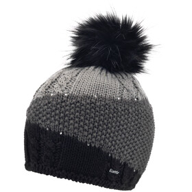 Eisbär Eden Lux Crystal Cappello Donna, black/anthracite/grey mottled